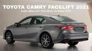 Toyota Camry facelift 2021 lộ diện, được nâng cấp tính năng và ngoại thất